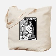 Antiquarius Owl Reading Book Tote Bag