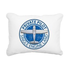 Aviation Private Pilot Rectangular Canvas Pillow