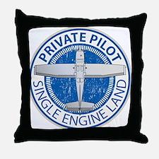 Aviation Private Pilot Throw Pillow