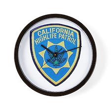 California Highlife Patrol Wall Clock