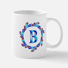 Blue Letter B Monogram Mug