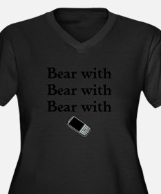 Bear with Bear with Bear with Women's Plus Size V-