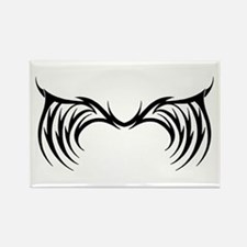 Tribal Gothic Wings Rectangle Magnet