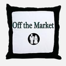 Off the Market Throw Pillow