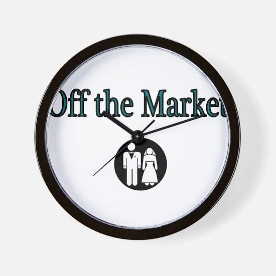 Off the Market Wall Clock
