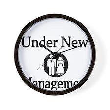 Under New Management Wall Clock