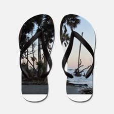 Tropical Beach - Hunting Island, SC Flip Flops