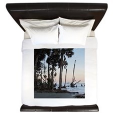 Tropical Beach - Hunting Island, SC King Duvet