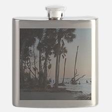 Tropical Beach - Hunting Island, SC Flask