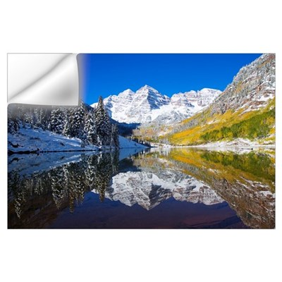 Colorado, Near Aspen, Landscape Of Maroon Lake And Wall Decal
