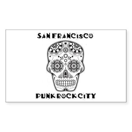 SF Punkrockcity Sugarskull Design Sticker