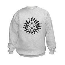 Black iron supernatural pentagram Sweatshirt