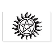 Black iron supernatural pentagram Decal