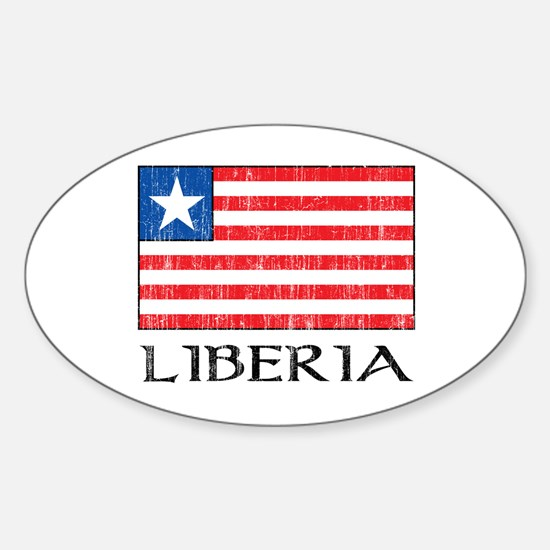 Liberia Flag Oval Decal