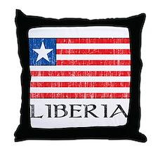Liberia Flag Throw Pillow