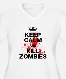 Keep Calm Kill Zombies Plus Size T-Shirt