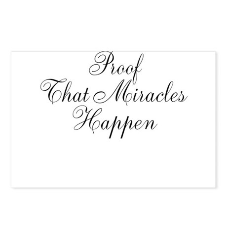 Proof That Miracles Happen Postcards (Package of 8