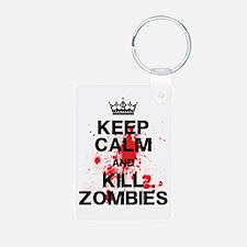 Keep Calm Kill Zombies Keychains
