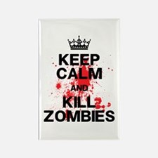 Keep Calm Kill Zombies Rectangle Magnet