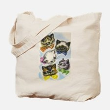 Vintage Kittens in Bow Ties Tote Bag