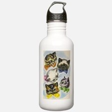 Vintage Kittens in Bow Ties Water Bottle