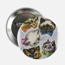 "Vintage Kittens in Bow Ties 2.25"" Button"