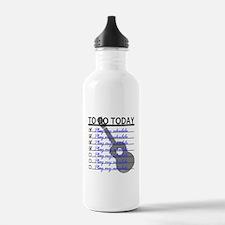 To Do Today - Play Ukulele Water Bottle
