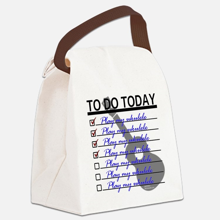 To Do Today - Play Ukulele Canvas Lunch Bag