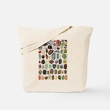 Vintage Geology Rocks Gemstones Tote Bag