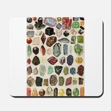 Vintage Geology Rocks Gemstones Mousepad