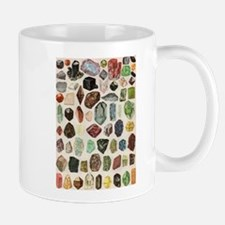 Vintage Geology Rocks Gemstones Small Small Mug
