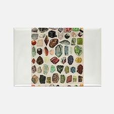 Vintage Geology Rocks Gemstones Rectangle Magnet