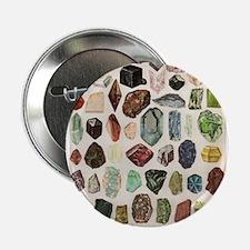 "Vintage Geology Rocks Gemstones 2.25"" Button"