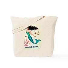 Vintage Mermaid Under the Sea Tote Bag