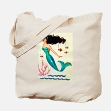 Vintage Mermaid Under the Sea Tote Bag