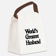 Worlds Greatest Husband Canvas Lunch Bag
