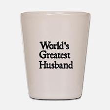 Worlds Greatest Husband Shot Glass