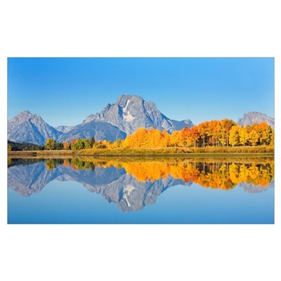 Wyoming, Grand Teton National Park, Oxbow Bend On Framed Print