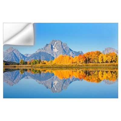 Wyoming, Grand Teton National Park, Oxbow Bend On Wall Decal