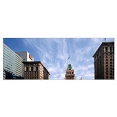 Buildings in a city, Tribune Tower, Oakland, Alame Canvas Art
