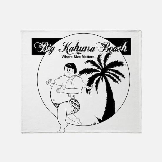 BigKahunaBeach Throw Blanket