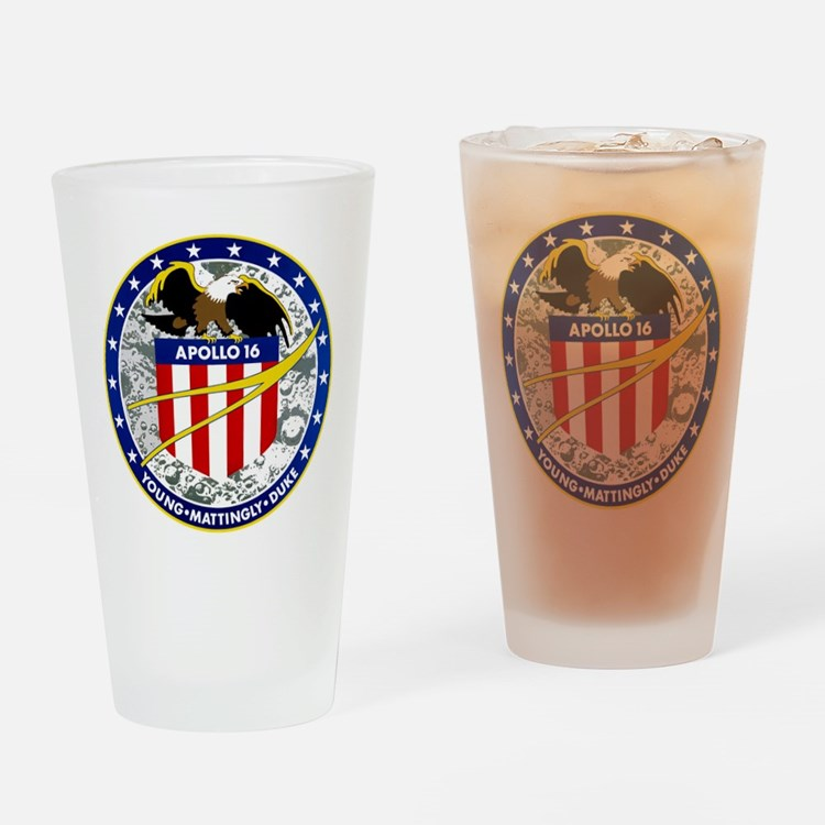 Apollo 16 Drinking Glass