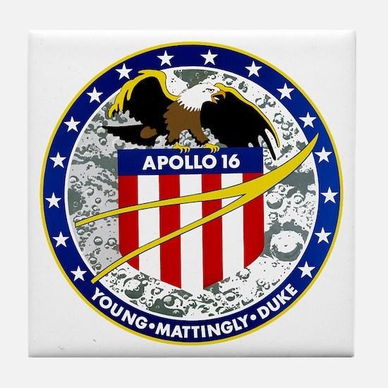Apollo 16 Tile Coaster