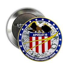 """Apollo 16 2.25"""" Button"""