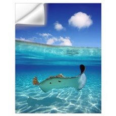 French Polynesia, Tahiti, Bora Bora, Stingray In B Wall Decal
