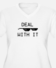 DEAL WITH IT Plus Size T-Shirt