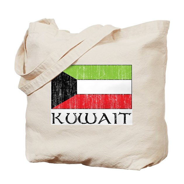 Kuwait Flag Tote Bag By Fullmoonemp