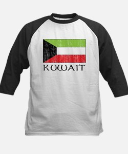 Kuwait Flag Kids Baseball Jersey