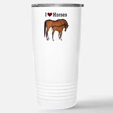 Funny Horses Travel Mug