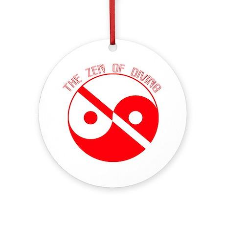 Zen Diving Ornament (Round)